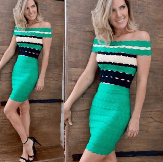 Kapalı Omuz Gece Elbise Modelleri 2019