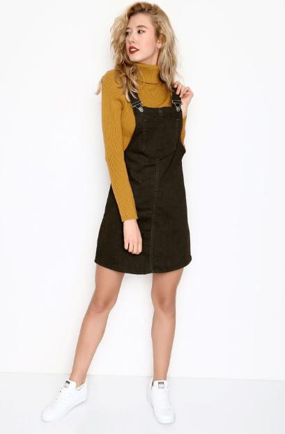 Koyu Renkli Kot Elbise Modelleri 2020