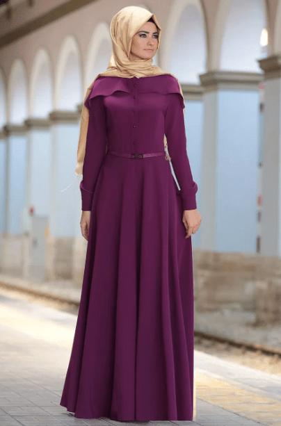 Mor Şal Elbise Kombinleri