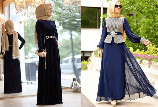 Tesettür Şal Elbise Modelleri
