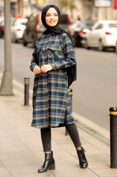 İşlemeli Ekose Tunik Modelleri 2020