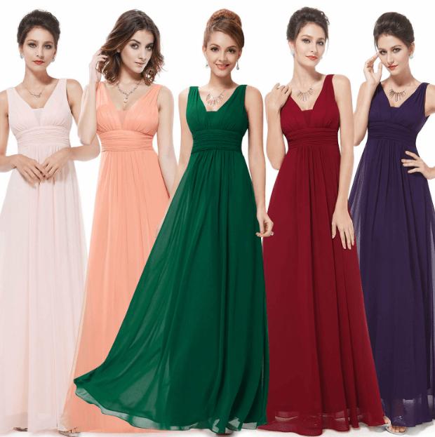 Şifon Abiye Elbise Modelleri 2020