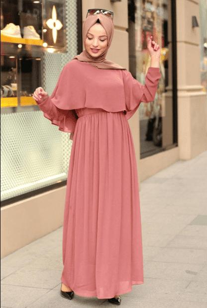 Şifon Tesettür Elbise Önerileri 2020