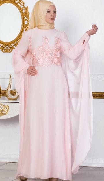 Şifon Tesettür Elbise Modelleri 2020