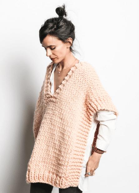 2020 Örgü Kadın Panço Modelleri