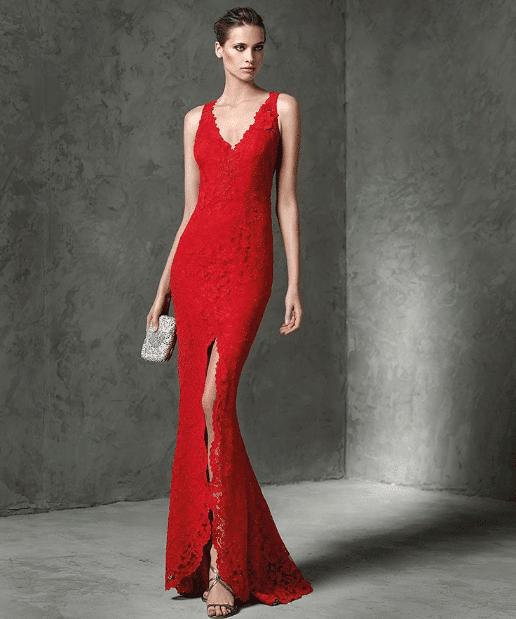 Dantelli Kırmızı Abiye Modelleri 2020