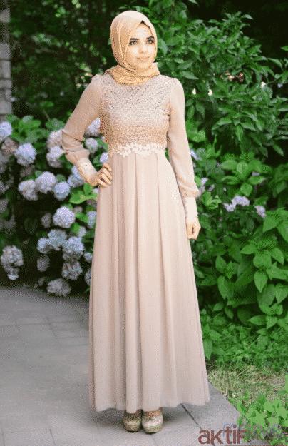 Dantelli Tesettür Elbise Modelleri 2020