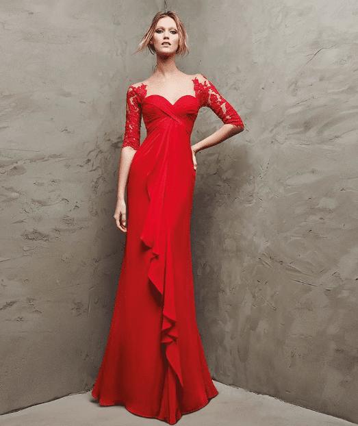Gösterişli Kırmızı Abiye Modelleri 2020