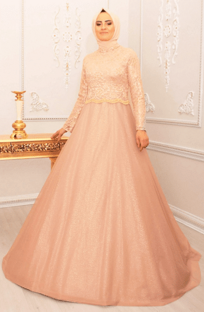 Kabarık Tesettür Elbise Modelleri 2020