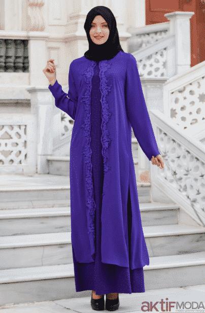 Lacivert Dantelli Elbise Modelleri 2020