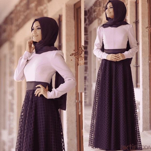 Mor Dantelli Abiye Elbise Modelleri 2020