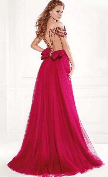 Pembe Fiyonk Elbise