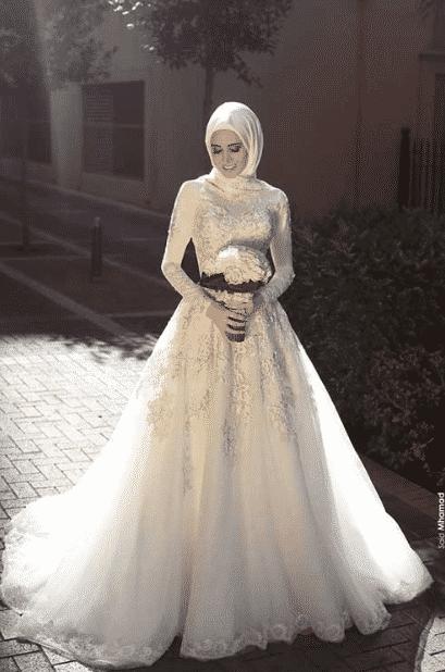 Prenses Tesettür Gelinlik Modelleri 2020