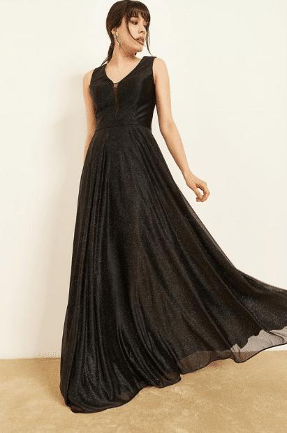 Simli Abiye Elbise Modelleri 2020
