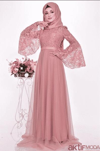Taş İşlemeli Dantelli Elbise Modelleri 2020
