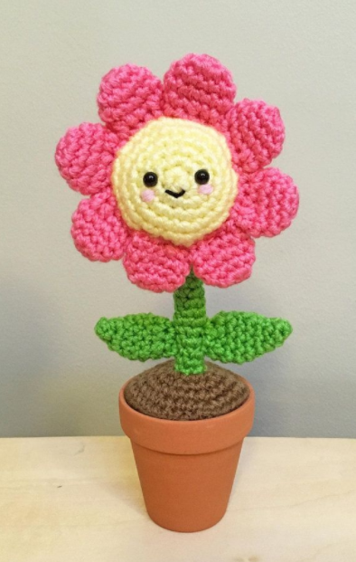 Amigurumi Renkli Çiçek Yapımı