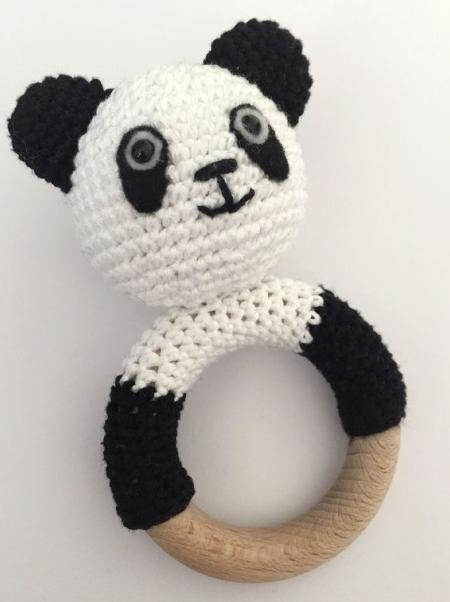 Amigurumi Sevimli Panda Çıngırak Yapımı