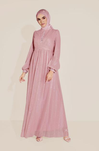 Tesettür Nişan Elbise Modelleri