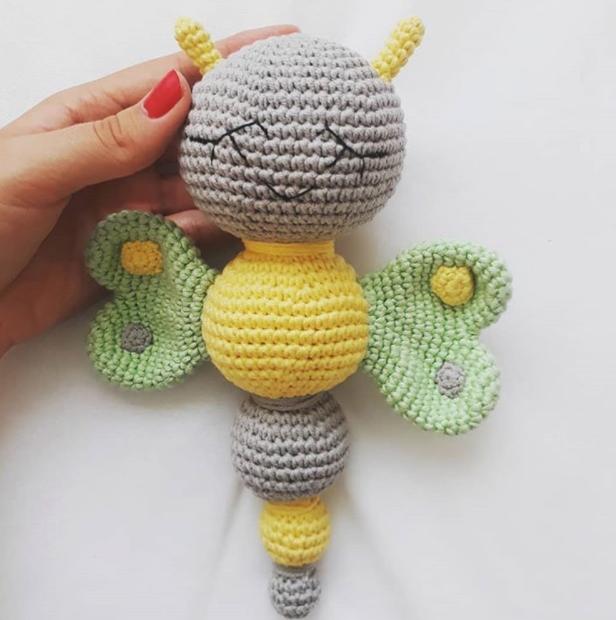 Amigurumi Sevimli Kelebek Çıngırak Yapımı
