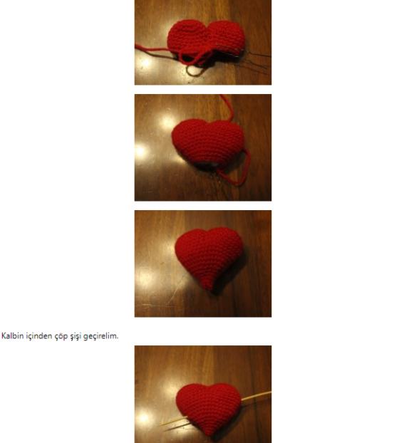 Amigurumi Oklu Kalp Yapımı