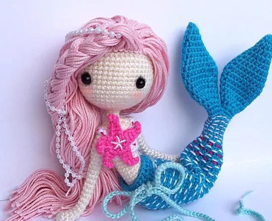 Amigurumi Deniz Kızı Yapımı